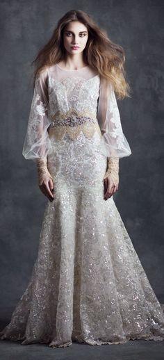 "Claire Pettibone 2015 Bridal Collection ""Gothic Angel"" - Belle The Magazine www.MadamPaloozaEmporium.com www.facebook.com/MadamPalooza"
