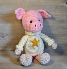 Купить Поросёнок с тайником Вязаная крючком игрушка в интернет магазине на Ярмарке Мастеров