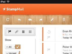 Dribbble - Concept email app for iPad by Evan Richards