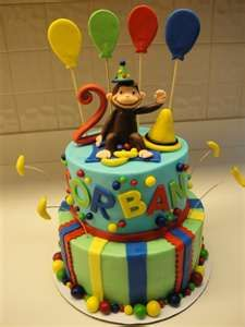Curious George Cake by smcakes on Cake Central