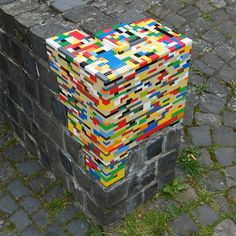 Lego street art: let your canvas/materials speak for themselves; never force a project