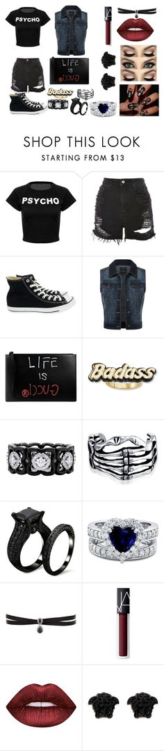 """""""Outfit #16"""" by sci-fi-gal on Polyvore featuring Topshop, Converse, Gucci, Steve Madden, De Beers, Bling Jewelry, BERRICLE, Fallon, NARS Cosmetics and Lime Crime"""