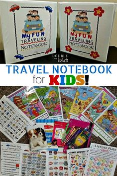 DIY Road Trip Binder for kids! Free printables. My kids are gonna love these on our trip! #travelforkids #kidsroadtripgames
