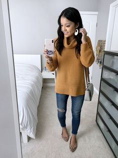 Daily Outfits Roundup  38 - Casual Winter Outfits and Deals. Mustard Sweater  ... 2ab03afa6