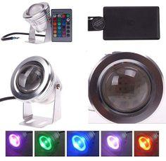 10W RGB LED Unterwasserscheinwerfer Pool Teich Aquarium Lampe 12V wasserdicht IP68