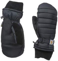 Carhartt Women's Quilts Insulated Breathable Mitt with Waterproof Wicking Insert, Black, Medium Climbing Gloves, Carhartt Work In Progress, Warmest Winter Gloves, Cold Weather Gloves, Bikini For Women, Driving Gloves, Thing 1, Mens Gloves, Earmuffs