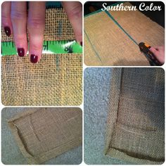 How to make a burlap & lace bow.