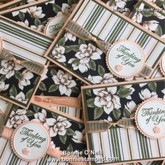 Inspiration: that's a lotta Magnolia! Paper Cards, Folded Cards, Magnolia Stamps, Pink Cards, Stampin Up Catalog, Stamping Up Cards, Sympathy Cards, Creative Cards, Homemade Cards