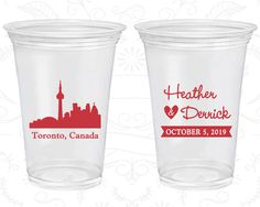 Canada Wedding, Personalized Disposable Cups, Destination Wedding, Soft Sided Cups, Toronto Wedding (165)
