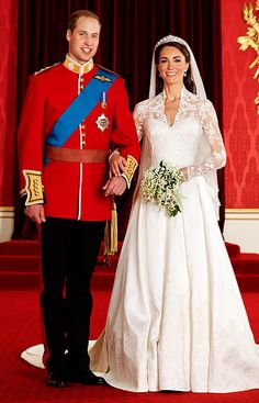 April 29, 2011. Bridal perfection! Kate Middleton didn't disappoint on her royal wedding day, donning a stunning gown custom-designed by Alexander McQueen's Sarah Burton. William Kate, Prince William And Catherine, William Arthur, Duke William, William Windsor, Prins William, Prince Philip, Princesa Kate Middleton, Kate Middleton Prince William