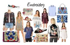 """""""Spring Trend '17: Embroidery"""" by redress on Polyvore featuring Steve Madden, Steven by Steve Madden, Tory Burch, Parker, Pia Pauro, Banner Day, Free People, Juliet Dunn, Gucci and Soludos"""