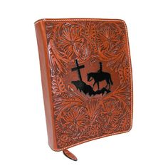 Authentic cowboy tough 3D Belt Company leather book or bible cover is constructed of full grain vegetable tanned leather.