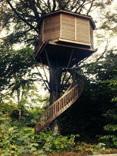 Tree house outside Aarhus, Denmark.