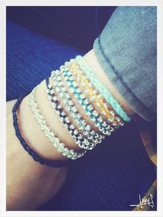In love with these Surfer Bracelets now want to make some of these!