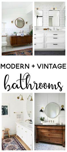 modern vintage bathr