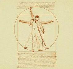 Vitruvian Man: Freddy Mercury by Zdjęcie Tatouage Freddie Mercury, Freddie Mercury Tattoo, Freddie Mercury Quotes, Queen Freddie Mercury, Great Bands, Cool Bands, Queen Banda, Freedy Mercury, Rock And Roll