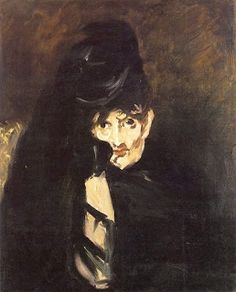 Édouard Manet - Berthe Morisot in a Mourning Hat, 1874