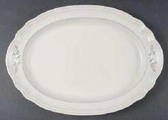 """Vintage Pfaltzgraff Stoneware Heirloom Pattern 14.75"""" Oval Platter #Pfaltzgraff"""