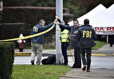 FBI:n väki ja muutama siviilihenkilö tarkastelee Tree of Life -synagogan ulkopuolella olevaa aluetta 28. lokakuuta. Sports, Jackets, Fashion, Hs Sports, Moda, Excercise, Sport, Fasion, Fashion Illustrations