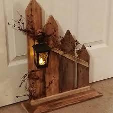 Primitive Decor lantern candle holder decor Rustic Home Decor picket fence lantern cottage decor home decor country decor Primitive Homes, Primitive Crafts, Country Primitive, Wood Crafts, Diy Crafts, Primitive Christmas, Primitive Stitchery, Primitive Patterns, Primitive Snowmen