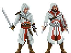 Assassins Pixel.Altaïr Ibn-La'Ahad and Ezio Auditore da Firenze.