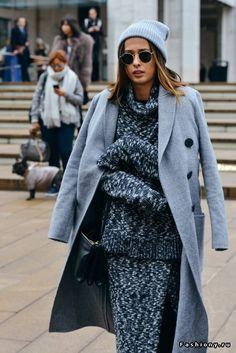 New York Fashion Week осень-зима 2015-2016 - street style