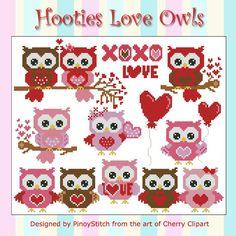 Hootie Love Owls Mini Collection Cross Stitch PDF by PinoyStitch