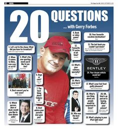 20 Questions with Gerry Forbes