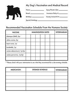 Dog Vaccination Schedule