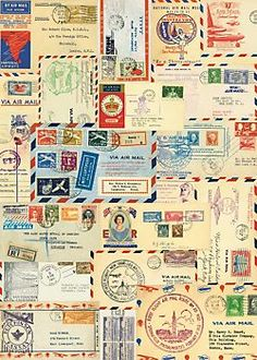 A collage of letters with vintage postmarks, postage stamps and other ephemera. Printed on Italian acid free paper. Add charm to your wrapped packages with this unique wrapping paper. By Cavallini & Co.<br><br><i>Please note: Given the delicate nature of Unique Wrapping Paper, Gift Wrapping, Vintage Ephemera, Vintage Paper, Vintage Diy, Vintage Market, Anniversaire Harry Potter, Paper Source, Printable Paper