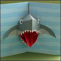 shark pop up cards Kirigami, Boy Cards, Kids Cards, Fancy Fold Cards, Folded Cards, Pop Up Art, Paper Pop, Interactive Cards, Kids Birthday Cards