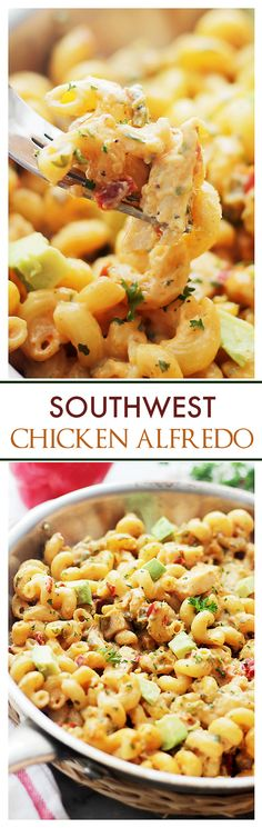 Southwest Chicken Alfredo - This is so easy and delicious, and with just a few ingredients on hand, you can have this ready in 30 minutes! It's creamy, dreamy and sooooo good!