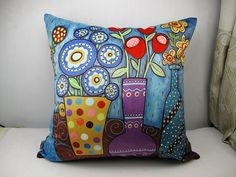 1 piece of Karla Gerard original art design pillow cushion cover for sale    Make your home modern and special at an affordable price !!You are