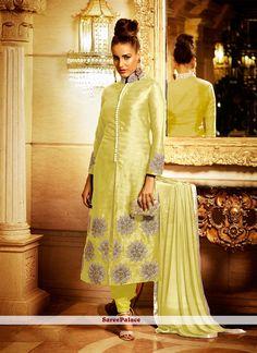 Fetching Lace Work Churidar Designer Suit