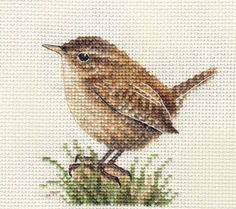 Cross Stitch Embroidery WREN-Garden-Bird-Full-counted-cross-stitch-kit-with-all-materials - Cross Stitch Pattern Maker, Cross Stitch Needles, Cross Stitch Bird, Cross Stitch Animals, Counted Cross Stitch Patterns, Cross Stitch Charts, Cross Stitch Designs, Cross Stitch Embroidery, Cross Stitches