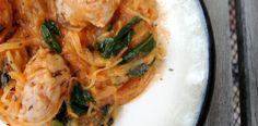 PaleOMG – Paleo Recipes – Tomato Cream Chicken Sausage 'Pasta'
