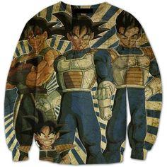 Bardock Goku Gohan Goten DBZ Family Vintage Sweatshirt