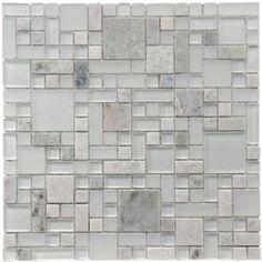 Sierra Versailles Ming 12 x 12 Inch Glass and Stone Mosaic Wall Tile