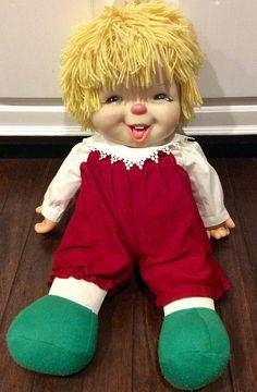 "Vintage Jesmar 24"" Doll Made in Spain, Ice Cream Doll, Yarn Hair Doll, Large Vintage Dolls, Jesmar Spain Dolls, Vintage Ice Cream Doll, Doll"