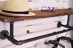 Vintage Garderoben - Garderobe Wandgarderobe Stahlrohr Industry - ein Designerstück von stahlrohr-art bei DaWanda