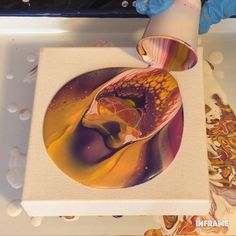 Fluid acrylic painting using technique, great for beginners. For more video tutorials, check out my YouTub… in 2019 Acrylic Painting For Beginners, Simple Acrylic Paintings, Acrylic Painting Tutorials, Painting Videos, Great Paintings, Acrylic Pouring Techniques, Acrylic Pouring Art, Acrylic Art, Acrylic Painting Canvas