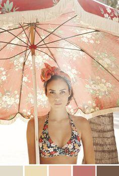 Love the bikini - floral bathingsuit Bikini Floral, The Bikini, Daily Bikini, Bikini Babes, Halter Bikini, Bikini Beach, Mannequins En Bikini, Hippie Style, My Style