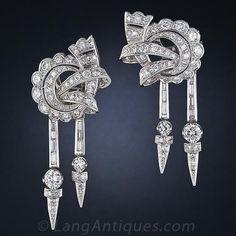 Glamorous Vintage Diamond Earrings - 20-3-2401 - Lang Antiques