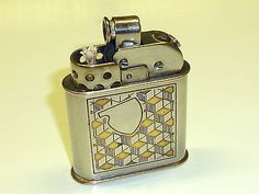TIP 53 (BROTHERS KAILASH) SEMI-AUTOMATIC LIGHTER W. WINDSHIELD - 1952 - GERMANY Collectables:Tobacciana & Smoking Supplies:Lighters:Other Lighters