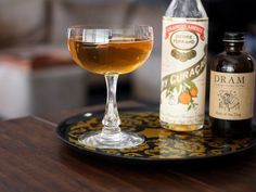 Behind the Times cocktail: Dolin Blanc vermouth, dry curacao, and Irish whiskey.