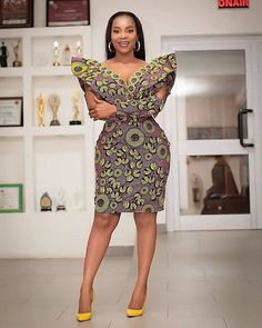 Short Ankara Dress Styles to try now. Ankara dress inspiration Short Ankara Dress Styles to try now. Latest African Fashion Dresses, African Dresses For Women, African Print Fashion, African Attire, Ankara Fashion, Africa Fashion, African Prints, African Fabric, Ladies Fashion Dresses