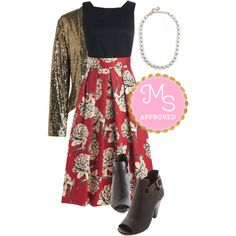 """""""Standout Speaker Dress"""" by modcloth on Polyvore"""