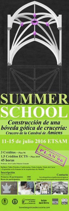 Summer school: construcción de una bóveda gótica de crucería. 11-15 julio ETSAM