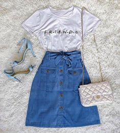 10 comfy spring/summer outfits that are stylishly cool Girls Fashion Clothes, Teen Fashion Outfits, Cute Fashion, Outfits For Teens, Skirt Fashion, Summer Outfits, Moda Fashion, Fashion Dresses, Fashion Fashion
