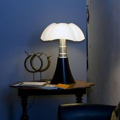 Tafellamp PIPISTRELLO DONKER BRUIN ∅ 55 H 66-86 - DUURK